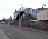 The sole, disabled-hostile access to Platform 1 at Kinghorn station. 15 February 2009.<br><br>[David Panton&nbsp;15/02/2009]