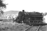 A standard Class 5 4-6-0 being turned at Gourock in October 1966.<br><br>[Colin Miller&nbsp;09/10/1966]