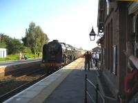 71000 <I>Duke of Gloucester</I> arriving at Langwathby on the Settle & Carlisle line in October 2006 with a special heading for Carlisle.<br><br>[John McIntyre&nbsp;21/10/2006]