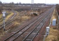 View north over Perth New Yard on 20 February 2009, with only one track remaining. [See image 37655]<br><br>[Bill Roberton&nbsp;20/02/2009]