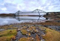 The Connel Bridge looking towards Loch Etive in February 2009.<br><br>[Norman Bews&nbsp;/02/2009]