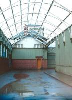 Inside the former carriage entrance at Gourock in 1985.<br><br>[Colin Miller&nbsp;//1985]