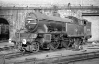 Gresley V3 No 67643 on shed at Gateshead in October 1964.<br><br>[Robin Barbour Collection (Courtesy Bruce McCartney)&nbsp;24/10/1964]