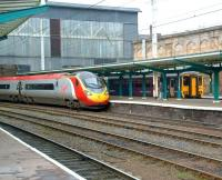 A Pendolino pulls into platform 4 at Carlisle in February 2009 with a southbound service.<br><br>[Colin Alexander&nbsp;19/02/2009]