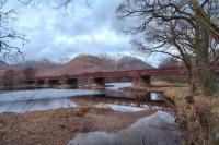 Orchy Viaduct between Dalmally and Lochawe on the West Highland Line.<br> <br><br>[Norman Bews&nbsp;//]