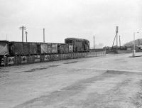 Shunting at Granton Harbour in the 1970s, view east towards Newhaven from the north side of Granton Square. The line was closed beyond Powderhall in 1986.<br><br>[Bruce McCartney&nbsp;//]
