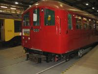 1938 Northern Line tube stock at the London Transport Museum Depot -Acton Open Day in March 2009. <br><br>[Michael Gibb&nbsp;08/03/2009]