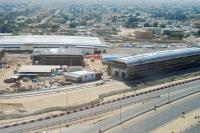 Dubai Metro is under construction with a projected opening date of 09/2009 for the <i>Red Line</i>. This aerial view looks SW over the depot at Dubai Airport.<br><br>[Ewan Crawford&nbsp;07/03/2009]