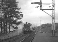 80028 runs round the single coach forming the Killin branch train at the east end of Killin Junction in 1965, a few months before closure.  <br><br>[K A Gray&nbsp;//1965]