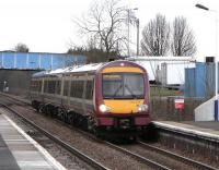 A terminating service from Glasgow Queen Street arrives at Falkirk Grahamston on 4 March 2009, formed by 170 473. <br><br>[David Panton&nbsp;04/03/2009]