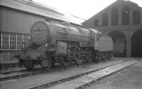 <i>Crab</i> 42737 stands outside Ayr MPD on 10 April 1966.<br><br>[K A Gray&nbsp;10/04/1966]