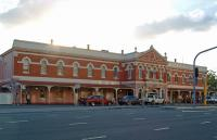 The gorgeous Grey Street facade of South Brisbane Railway Station. This was a terminus before the line was extended in 1978 over the Brisbane River to near Roma Street station.<br><br>[Beth Crawford&nbsp;24/02/2009]