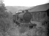 54466 <i>stored</i> alongside Aviemore shed in August 1960. The locomotive was officially withdrawn in 1962, the same year the shed was closed by BR.<br><br>[Robin Barbour Collection (Courtesy Bruce McCartney)&nbsp;26/08/1960]
