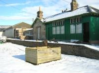 The former Chirnside station photographed following a snowfall in February 2009. The buildings have been in use as a storage and distribution centre for farming supplies.<br><br>[Ian Whittaker&nbsp;13/02/2009]
