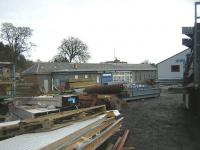 View east over the former Duns station in February 2009.<br><br>[Ian Whittaker&nbsp;27/02/2009]