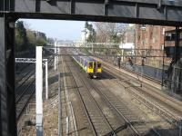 A Euston - Watford local service ascends Camden bank on a sunny 18th March 2009.<br><br>[Michael Gibb&nbsp;18/03/2009]