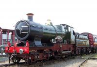 GWR 3440 <I>City of Truro</I> at York Railfest 2004. <br><br>[Colin Alexander&nbsp;//2004]