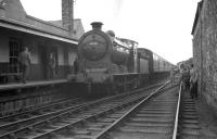 Although the branch was closed to passengers from August 1948, Jedburgh remained open for freight traffic until well into the 60s. The photograph shows J37 no 64624 at the terminus with The RCTS (West Riding Branch) <I>Borders Rail Tour</I> from Leeds City in July 1961.<br><br>[K A Gray&nbsp;09/07/1961]