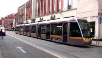 Luas tram in Abbey Street, Dublin on 21 May 2008.<br><br>[Colin Miller&nbsp;21/05/2008]