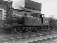 Class N15 no 69196 at 66B Motherwell Shed on 14 April 1963.<br><br>[David Pesterfield&nbsp;14/04/1963]