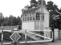 The signal box at Dinnet in June 1963.<br><br>[Colin Miller&nbsp;/06/1963]