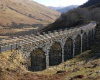 Looking south over the viaduct in Glen Ogle on 23 March 2009.<br><br>[Bill Roberton&nbsp;23/03/2009]