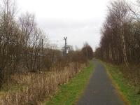 View East towards Elderslie East Junction where the Paisley Canal line diverged from the main line. It was at this location that Elderslie No 1 SB stood. <br><br>[Graham Morgan&nbsp;24/03/2009]