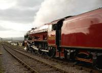Ex-LMS 6100 <i>Royal Scot</i> in the process of <I>running in</I> on the West Somerset Railway on 25 March 2009, photographed at Blue Anchor station.<br><br>[Peter Todd&nbsp;25/03/2009]