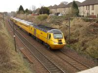 43062 <I>John Armitt</I> at the head of the Network Rail Test Train at Elderslie on 24th March<br><br>[Graham Morgan&nbsp;24/03/2009]