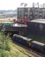 27034 takes a freight through Springburn in the mid 1980s.<br><br>[Andy Kirkham&nbsp;//]