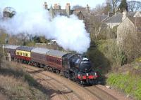 The SRPS <I>Forth Circle Steam Special</I> passes Aberdour on its first trip on 5 April 2009. Locomotive K4 no 61994 <I>The Great Marquess</I>.<br><br>[Bill Roberton 05/04/2009]