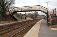 View over Busby station on 6 April 2009 looking towards East Kilbride. <br><br>[John Steven&nbsp;06/04/2009]