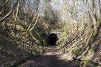 Eastern entrance to Neidpath tunnel. At 674 yards, the western exit of this tunnel emerges near Neidpath Castle, and leads onto Neidpath viaduct<br><br>[James Young&nbsp;/04/2009]