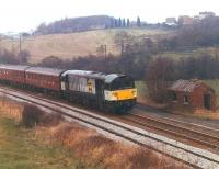 58008 between Crigglestone Junction and former Crigglestone West Station with the Pathfinder <I>Standedge Stomper</I> on 20 February 1994.<br><br>[David Pesterfield&nbsp;20/02/1994]