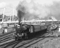 K4 61994 <I>The Great Marquess</I> with the SRPS <I>Forth Circle Steam Special</I> making its 1316 departure from Stirling to Linlithgow on 5 April 2009.<br><br>[Neil Scott&nbsp;05/04/2009]