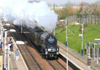 The <I>Great Britain II</I> railtour (1010 ex-Waverley) returning south through Musselburgh on 14 April 2009 behind 60009 <I>Union of South Africa</I>.<br><br>[John Furnevel&nbsp;14/04/2009]