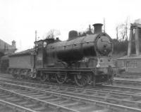 57661 stands in the shed yard at Dumfries in April 1963.<br><br>[David Pesterfield&nbsp;13/04/1963]