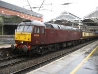 47804 pauses at Preston with the Taunton - Dumbarton leg of the <i>Scottish Chieftain</i> railtour on a wet Good Friday, 10th April 2009<br><br>[Michael Gibb&nbsp;10/04/2009]