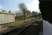 The remains of the platform at Turton between Bolton and Blackburn. The photo is taken looking south from the level crossing on 18 April 2009.<br><br>[John McIntyre&nbsp;18/04/2009]