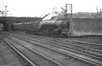 60532 <i>Blue Peter</i> backing out of Buchanan Street on 25 July 1966. The A2 is heading for St Rollox shed after bringing in the 1.30pm ex-Aberdeen train.<br><br>[K A Gray&nbsp;25/07/1966]