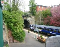 View over Knaresborough station towards York in April 2009.<br><br>[John Furnevel&nbsp;24/04/2009]