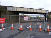 Stripped of all its Glory and Glasgow 2014 Signage.... Dalmarnock Road underbridge waiting to be removed. <br><br>[Colin Harkins&nbsp;27/04/2009]