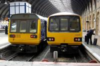 Front end comparison of Pacers 142084 and 144005 at York in April 2009.<br> <br><br>[Bill Roberton&nbsp;16/04/2009]
