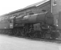 Hughes <I>Crab</I> 2-6-0 no 42765, having been withdrawn from 6C, Birkenhead, 9 months earlier, stands on one of the reception roads at Barry scrapyard in August 1967 [see image 40325]. The locomotive was subsequently rescued and restored by the East Lancs Railway.<br><br>[David Pesterfield&nbsp;12/08/1967]