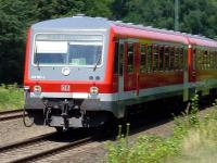 The midday train from Lubeck to Bad Kleinen on 28 July 2007, photographed about 1 kilometre from Lubeck Station.<br><br>[John Steven&nbsp;28/07/2007]