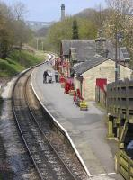View over Haworth on the KWVR on 17 April 2009.<br><br>[Bill Roberton&nbsp;17/04/2009]