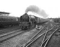 A1 Pacific no 60154 <I>Bon Accord</I> about to run through Doncaster with the 10.10am Edinburgh - Kings Cross on 28 July 1962.<br><br>[K A Gray&nbsp;28/07/1962]