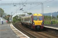 334016 arrives at Cardross with an early afternoon service to Helensburgh Central on 28 April 2009<br><br>[John McIntyre&nbsp;28/04/2009]