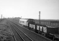 A <I>Peak</I> with a westbound freight approaching Drem in the 1960s. <br><br>[Robin Barbour Collection (Courtesy Bruce McCartney)&nbsp;//]