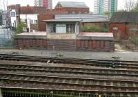 Paragon signal box on the approach to Hull station in 2009. View south from Park Street bridge.<br><br>[John Furnevel&nbsp;23/04/2009]
